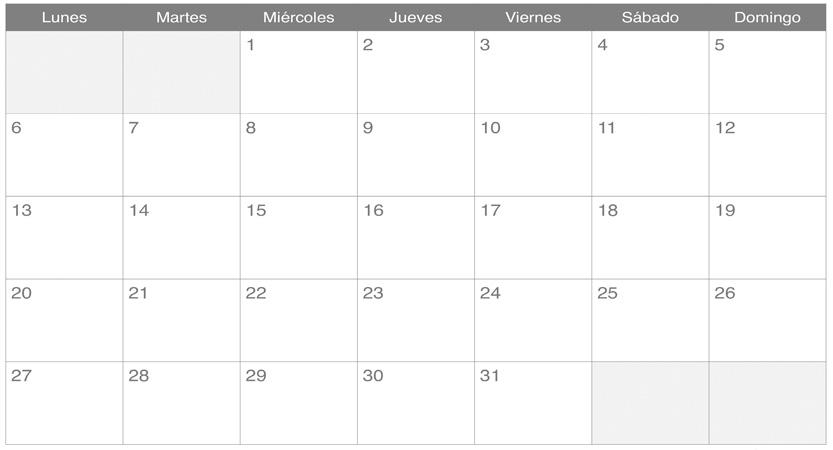 Calendario Exposiciones